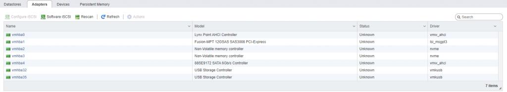 Storage adapters NVMe
